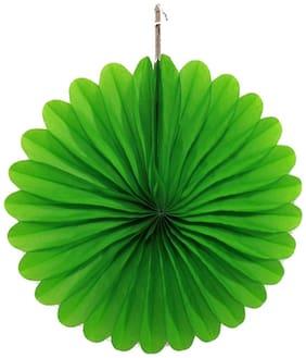 Funcart Dark Green Paper Fan 12 Inch