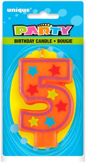 Funcart DECORATIVE BIRTHDAY CANDLE 5