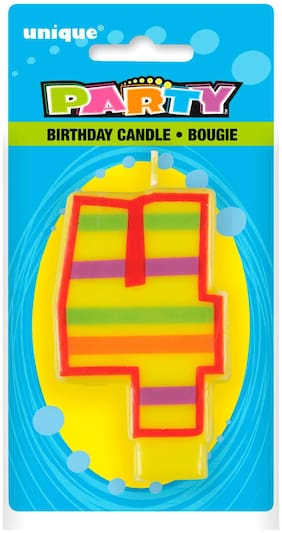 Funcart DECORATIVE BIRTHDAY CANDLE 4