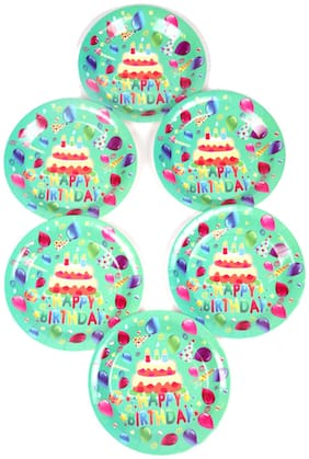 Funcart Frolic Birthday Theme Disposable Paper Plate