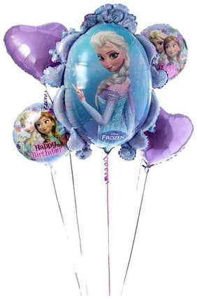 Funcart Frozen Foil Balloon Bouquet (5pcs/pack)