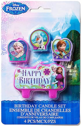 Funcart Frozen happy birthday candle (4pcs/pack)