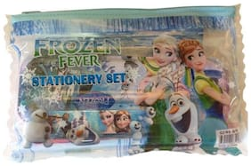 Funcart Frozen stationery kit - notebook,sharpner,rubber,2 pencils,metal pencil box & ruler