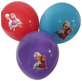 Funcart Frozen Assorted color printed balloons (pack of 5)