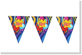 Funcart Fun And Frolic Funcart Party Theme Triangular Flag Banner ( Pack Of 12)