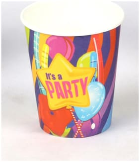 Funcart Fun And Frolic Funcart Party Theme Paper Cup( Pack Of 6)