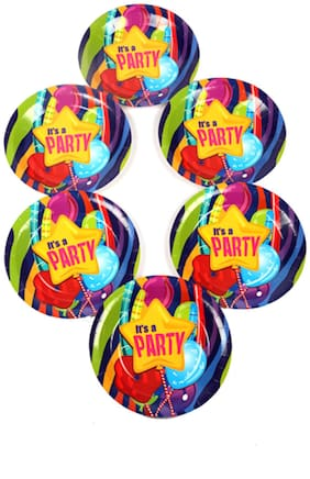 Funcart Fun & Frolic Party Theme Disposable Paper Plate