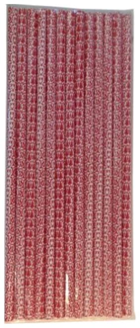 Funcart Funcart Paper Straws 25pcs Red with White Abstract design