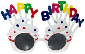 Funcart Funcart Funcart White Cup Cake Letter Happy Birthday Sunglasses