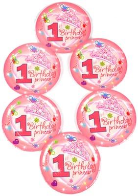 Funcart Funcart Sweet At Princess Theme Disposable Paper Plate
