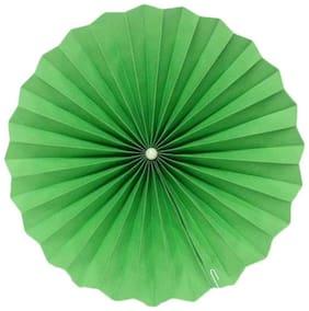 Funcart Green Paper Fan 12