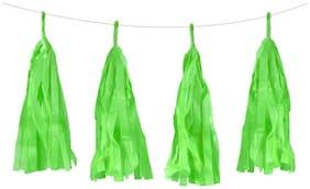 Funcart Green Tissue Paper Tassel Garland Kit