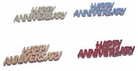 Funcart Happy anniversary 3mm foam colorful mettalic confetti pack of assorted colors ( 12 pcs/pack)