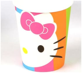 Funcart Hello Kitty Theme 255.14 g (9 Oz) Paper Cup( Pack Of 6)