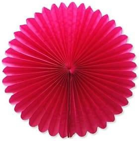 Funcart Hot Pink Paper Fan