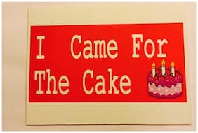 Funcart I Came For The Cake Photo Booth Board