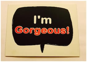 Funcart I'M Gorgeous-Photo Booth Board