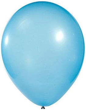 Funcart Light Blue 8 Metallic Latex Balloons