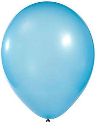 Funcart Light Blue 8 Metallic Latex Balloons (Pack Of 10)
