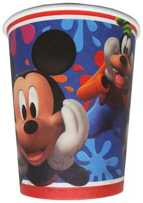 Funcart Mickey club house paper cup size 255.14 g (9 OZ) package 8 pcs pack