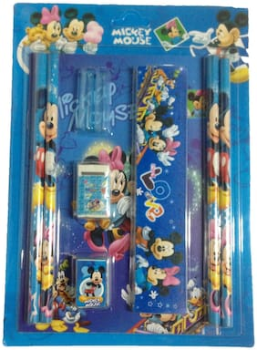 Funcart Mickey & Friends Stationery Set With Pencil Cap