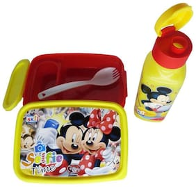 Funcart Mickey Mouse and friebds Selfie time Lunch Box and Sipper set