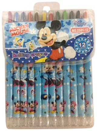 Funcart Mickey Mouse Rolling crayons ( 12 colors)