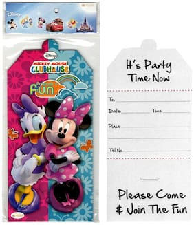Funcart Minnie Club House Invitation Card  (10pcs/pack)