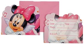 Funcart Minnie Mouse Theme Invitation ( Pack Of 6)