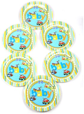 Funcart On The Go Theme Disposable Paper Plate