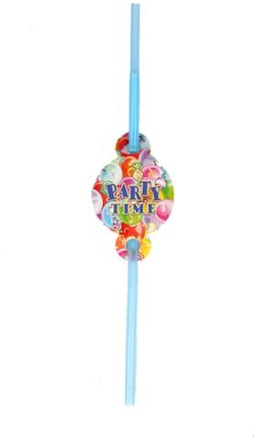 Funcart Party Time Theme Drinking Straws