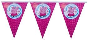Funcart Peppa pig flag banner material:paper size :2M