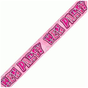 Funcart Pink Hen Funcart Party Holographic Banner