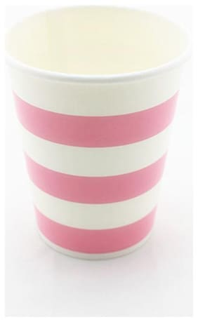 Funcart Pink Sailor Stripe Party Beverage Cup