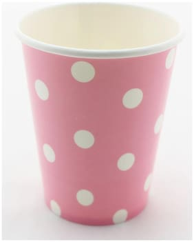 Funcart Pink Polka Dots Party Beverage Cup
