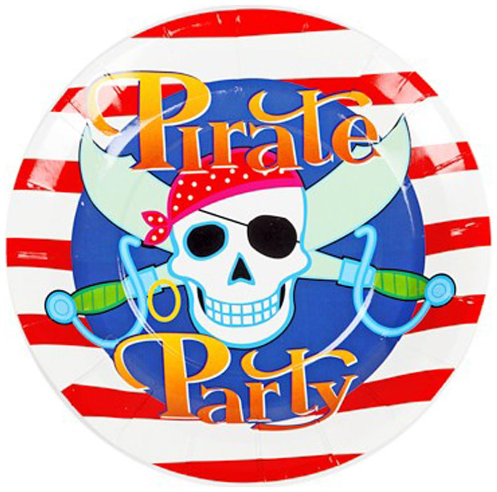 Funcart Pirate Funcart Party Theme Disposable Paper Plate  Pack Of 6