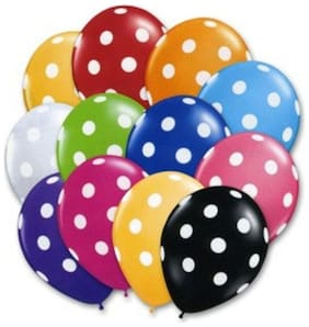Funcart Polka Dot Balloons(Pack of 10) [Kitchen & Home]