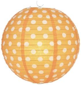 Funcart Polka Dot 12'' Paper Lantern-Orange