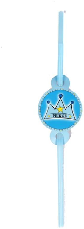 Funcart Prince Crown Theme Drinking Straws