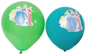 Funcart Princess printed assorted color balloons (pack of 5)