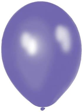 Funcart Purple 8 Metallic Latex Balloons (Pack Of 10)