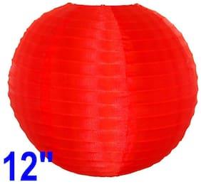 Funcart Red Silk Lantern 12 inch