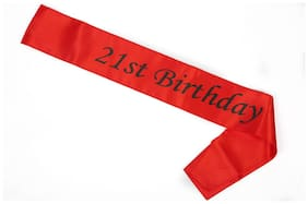 Funcart Red 21Th Birthday Sash