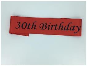 Funcart Red 30th birthday sashe