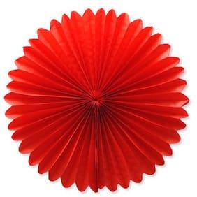 Funcart Red Paper Fan 16 inch