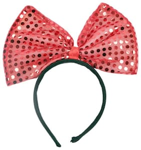 Funcart Red Sequin Bow Headband