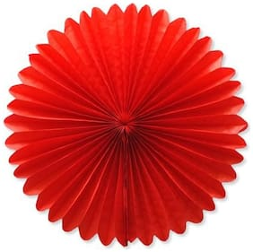 Funcart Red Paper Fan 16