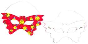 Funcart Smiley Theme Funcart Party Eye Mask ( Pack Of 6)
