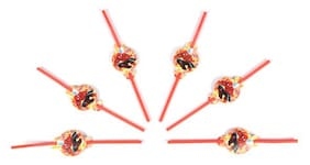 Funcart Spiderman Theme Drinking Straws (Pack Of 6)