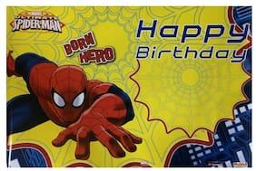 Funcart Spiderman Happy Birthday Paper Poster  (2pcs/pack)